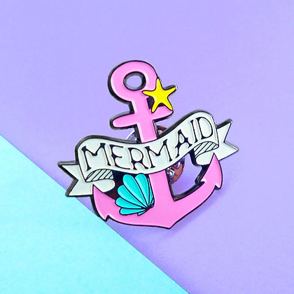 MERMAID PIN BADGE - LIMITED EDITION PINK