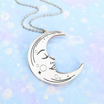 La Lune Necklace or Brooch - Large LL