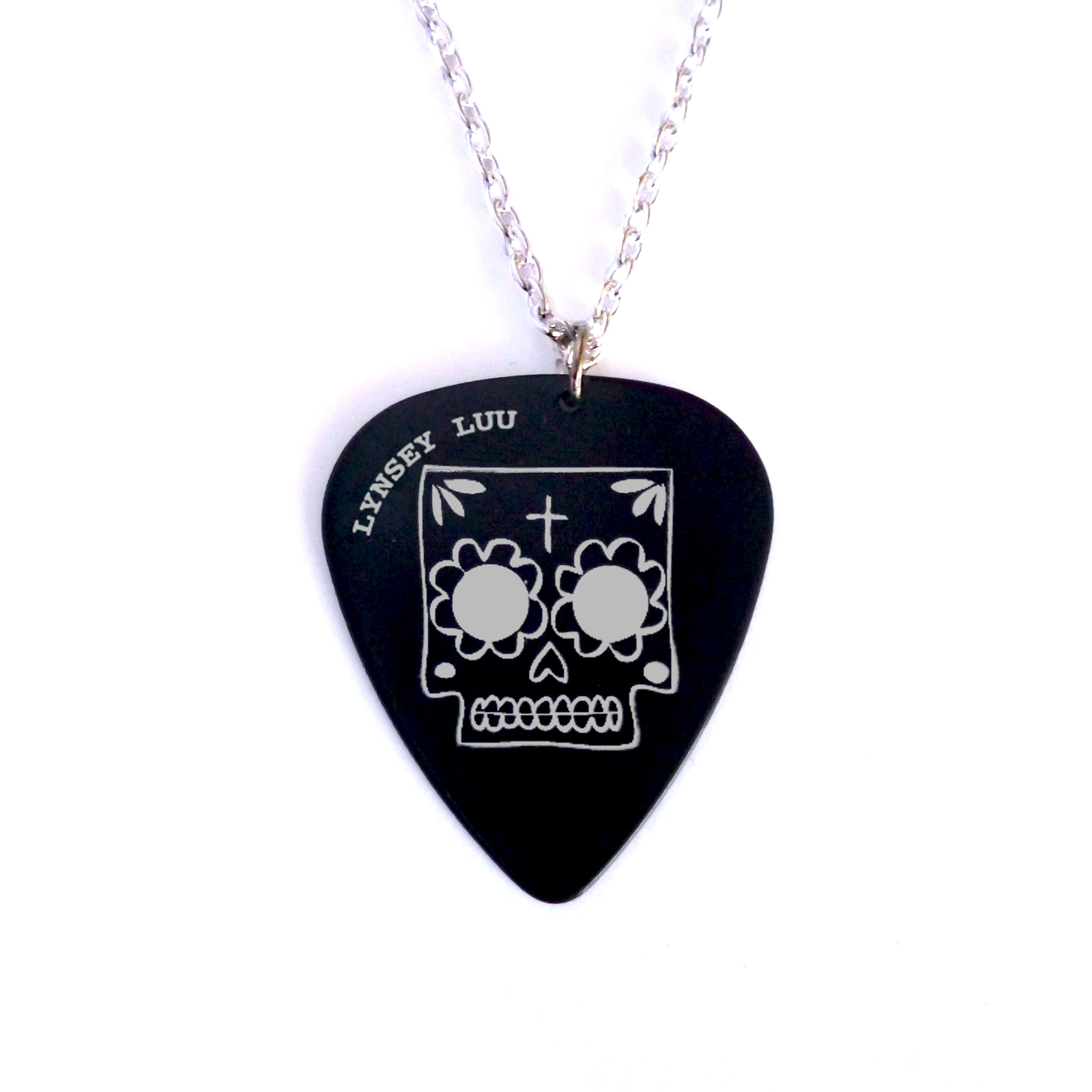 Plectrum Sugar Skull Silver copy