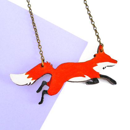 WOODEN FOX- RED OR COSMIC