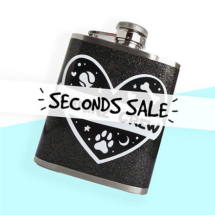 SECONDS CANINE CREW 3OZ HIP FLASK