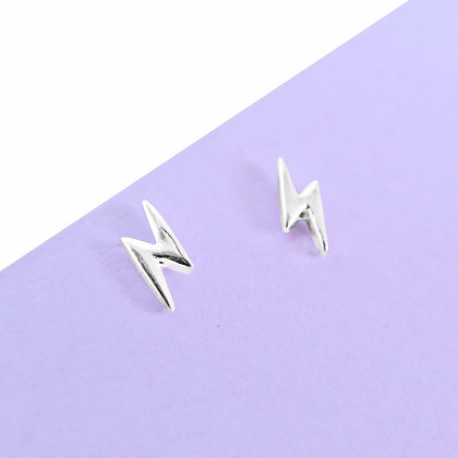 STERLING SILVER 925 LIGHTNING BOLT EARRINGS