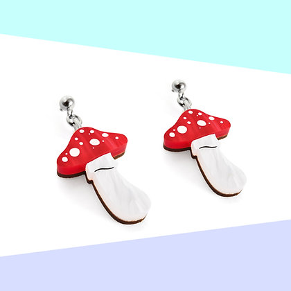 LITTLE TOADSTOOL EARRINGS