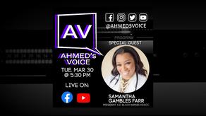 Ahmed's Voice Ep 10: Samantha Gambles Farr