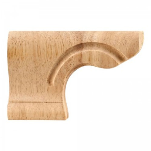 Rounded Corner Pedestal Foot - Left