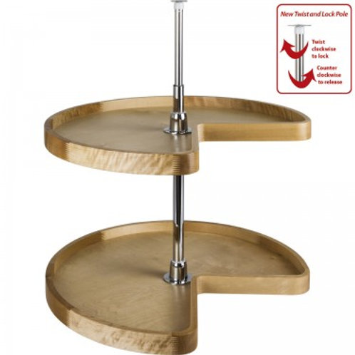 Kidney Shaped Lazy Susan -Wood