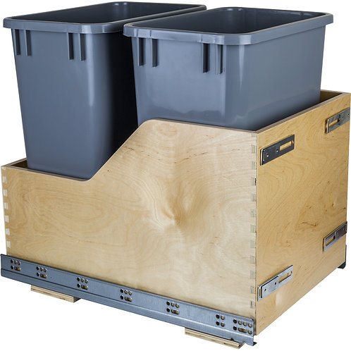 Double Pullout Waste Container System