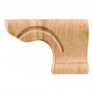 Rounded Corner Pedestal Foot - Right