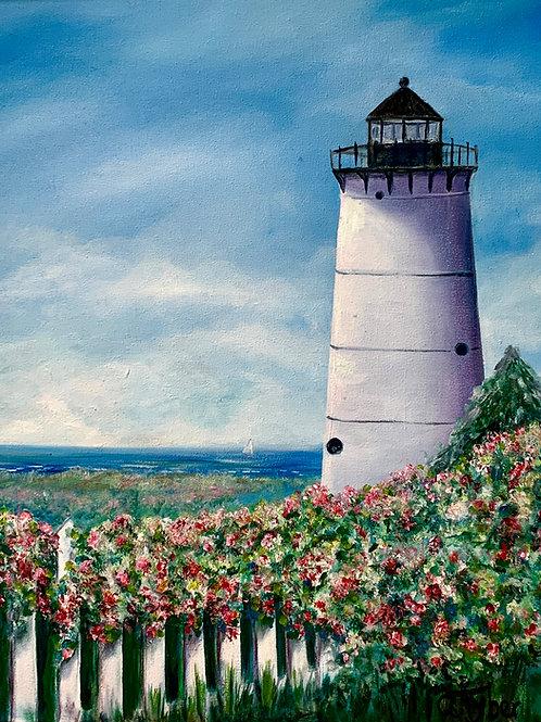 East Chop Lighthouse Acrylic on Canvas