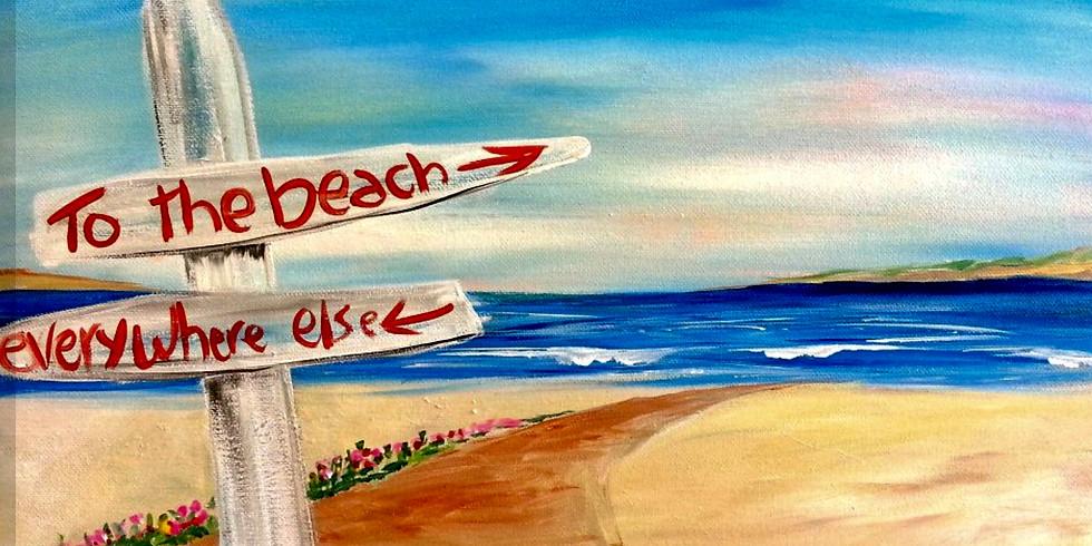 Paint Night  TO THE BEACH!!