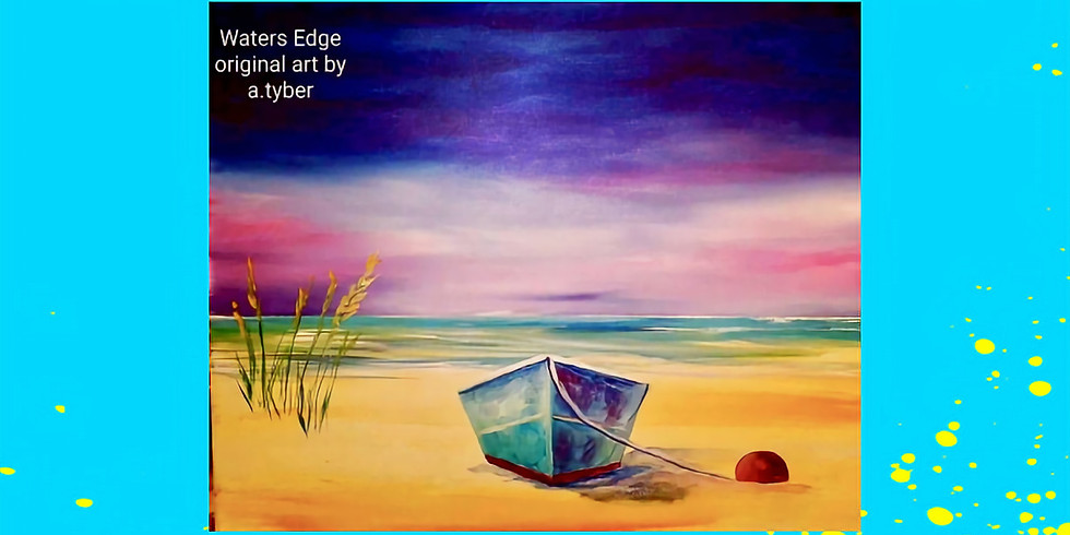 Paint Night with Josh The Artist! Waters Edge- Wed. 7/28-6:30-8:30PM (3)