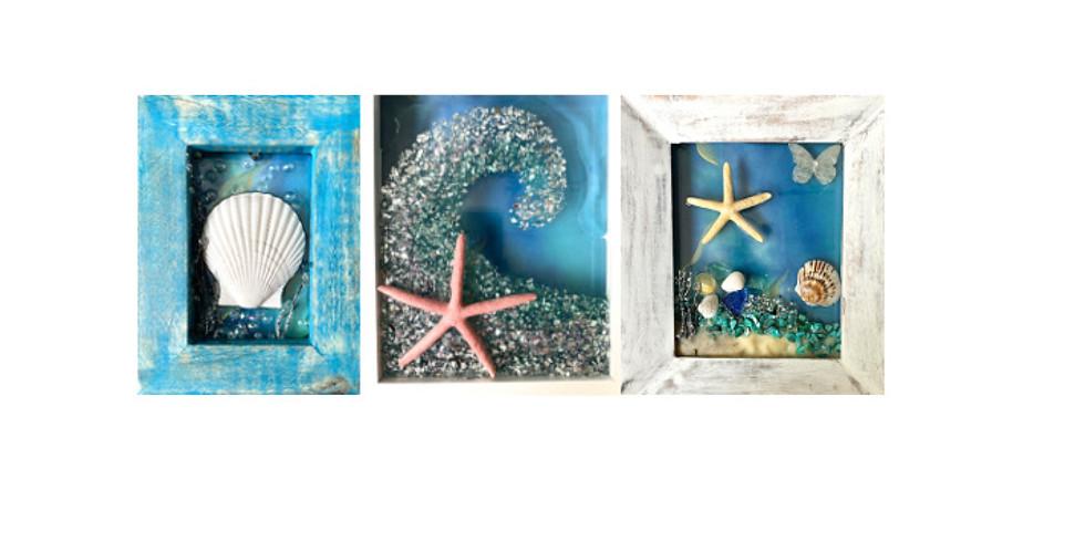 Beach Glass Resin Art