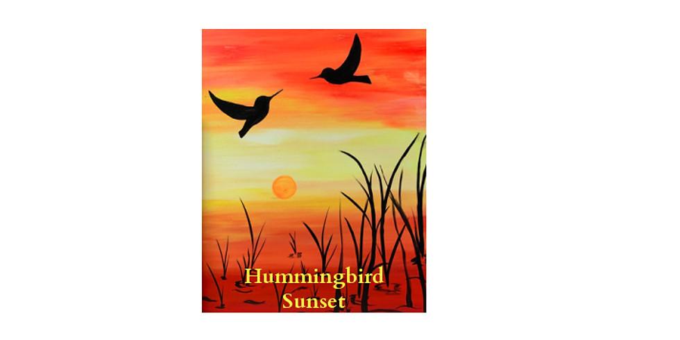 Paint Night Humming Bird SUNSET