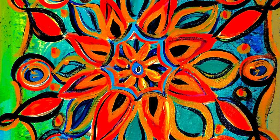 Meditation Paint Night-Flower of Life Mandala -Friday, July 2nd 6-8:30PM