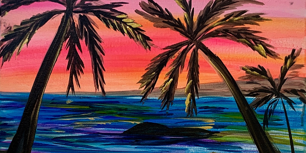 Paint Night with Josh The Artist! Tropical Sunset! Wed. 7/21-6:30-8:30PM