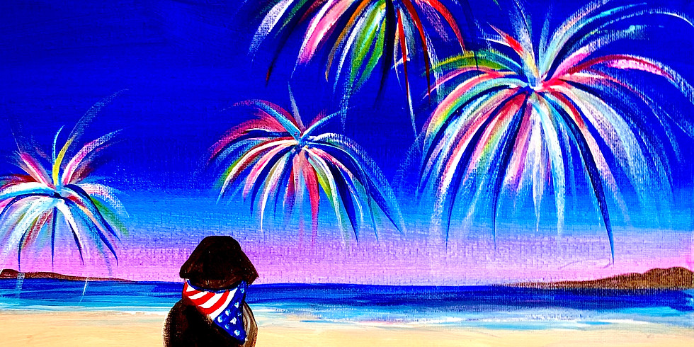 Paint Night with Josh- The Independence Day  Black Dog- Wed. 6/30-6:30-8:30PM