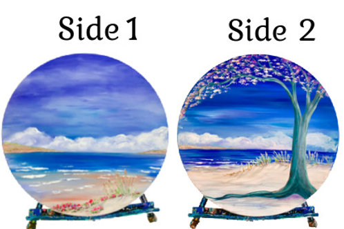 Double sided wooden plaque-Hand-Painted!