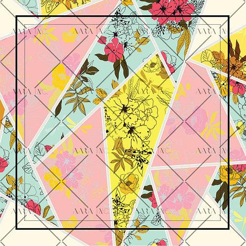 Floral Mosaic Scarf Print-APSP17