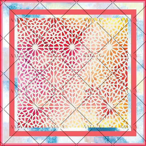 Moroccan Lattice Scarf Print-APSP19