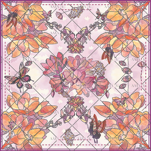 Florals & Butterfly Scarf Print-APSP14