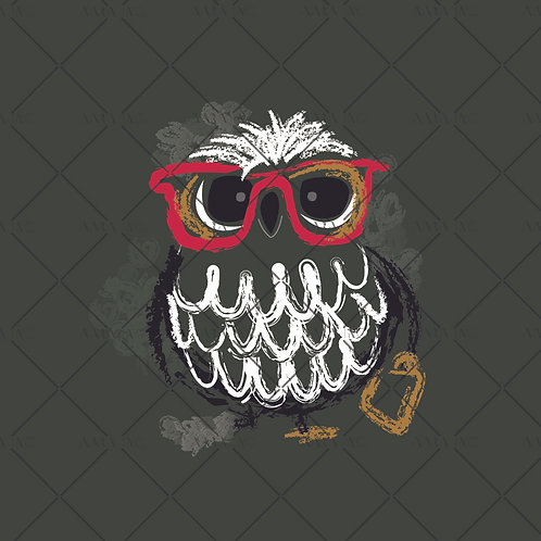 Cute Owl with Glasses-KW1910031