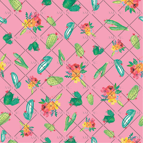 Florals with Cacti-KW1910028AC
