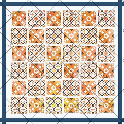 Moroccan Tile Scarf Print-APSP20