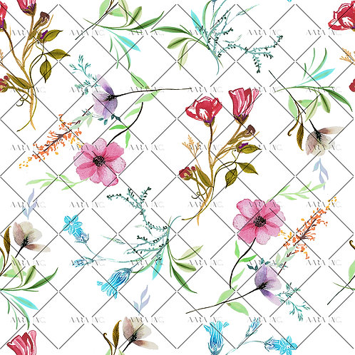 Dainty Watercolour Spring Florals