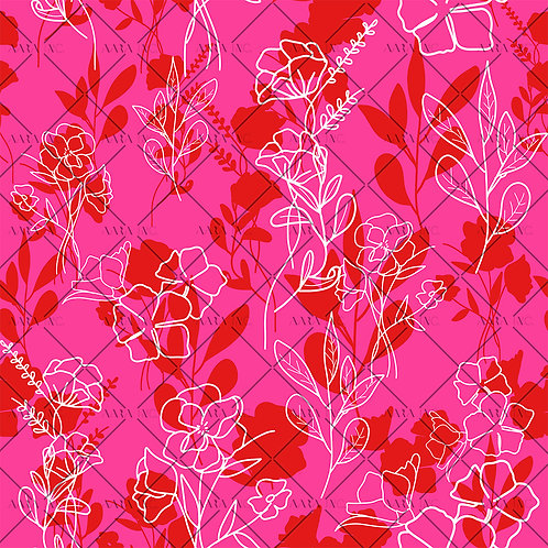 Stencilled Florals-NT1910009