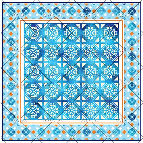 Islamic Tile Scarf Print-APSP18