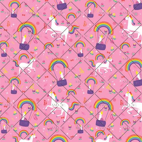 Unicorn & Parakeet over Rainbows-KW100024AC