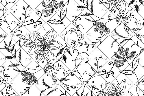 Allover Floral Doodle-IPSD01