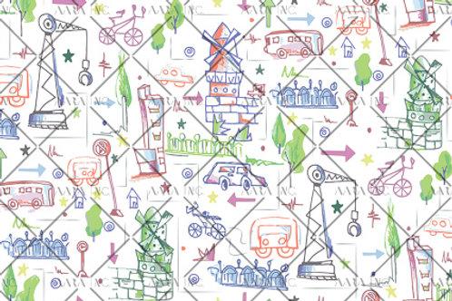 Amsterdam City Doodle-KWCS01
