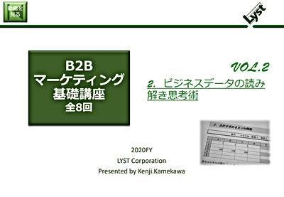 B2Bマーケティング基礎講座【2】ビジネスデータの読み解き思考術