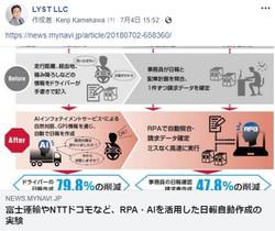 富士運輸やNTTドコモなど、RPA・AIを活用した日報自動作成の実験