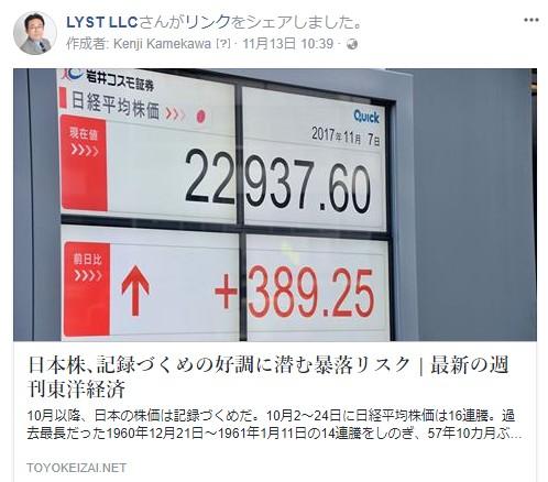 日本株、記録づくめの好調に潜む暴落リスク