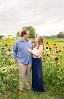 Indianapolis Wedding Photography - couple in sunflower field
