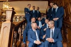 Casual groomsmen talking