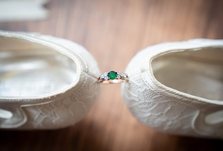 beautiful ring shot between shoes - Emma males wedding photography