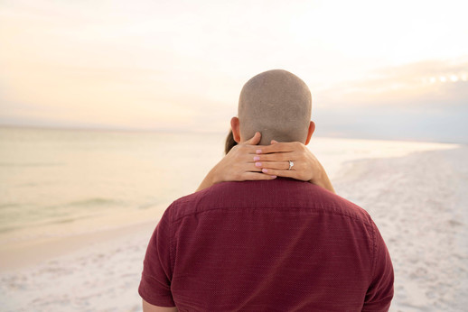 engagment ring on the beach