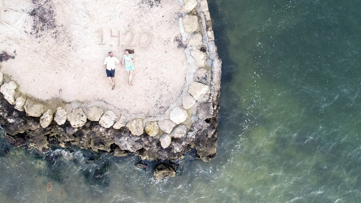 Engagement drone photo