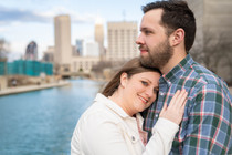 couple on the Indianapolis canal