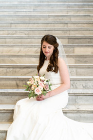 bride at indiana state house - emma males photography
