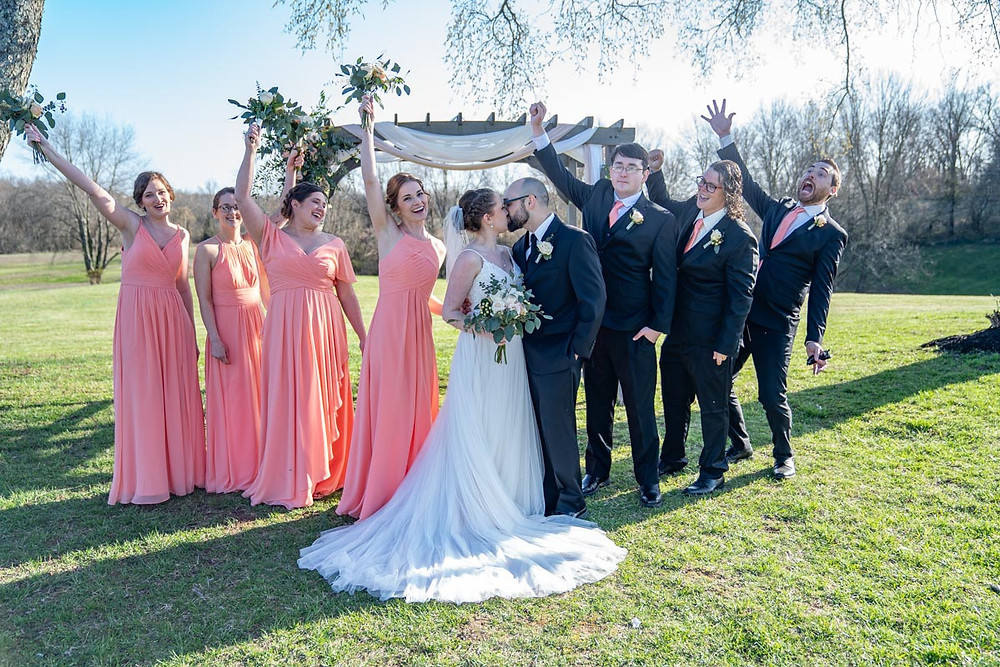 Bridal party by Emma Males Photography