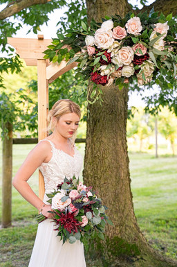 Bride at Styled Shoot by Emma Males Photography at The Vineyard Gardens in Indianapolis Indiana