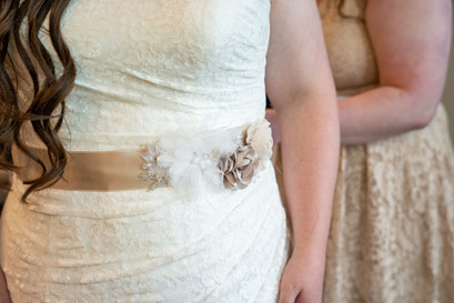 Indianapolis Wedding Photographer - detail shot of brides dress
