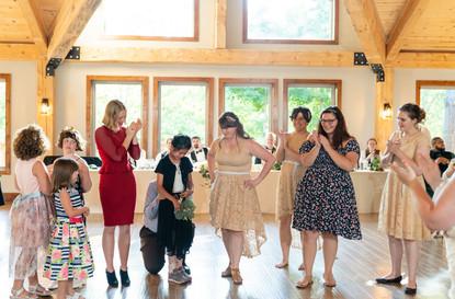 Indianapolis Wedding Photographer -bouquet toss