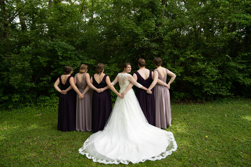 bridesmaids from back - Emma Males Photography