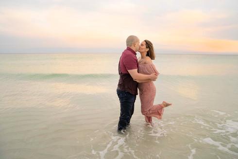 kissing in the ocean