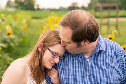 Indianapolis Wedding Photography - man kissing woman's forehead